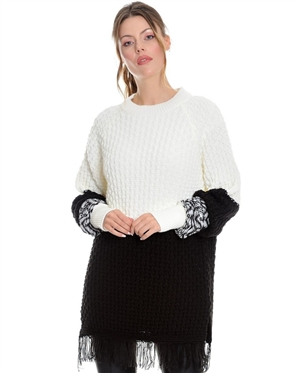Women White Designer Knit Sweater
