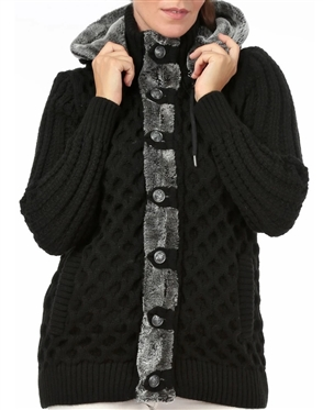 Women Black Designer Knit Sweater