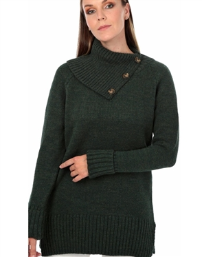 Women Olive Designer Knit Sweater