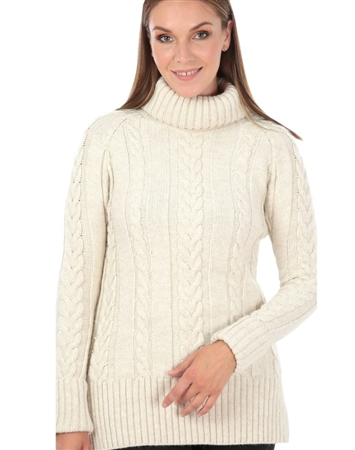 Women Beige Designer Knit Sweater