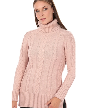 Women Blush Designer Knit Sweater