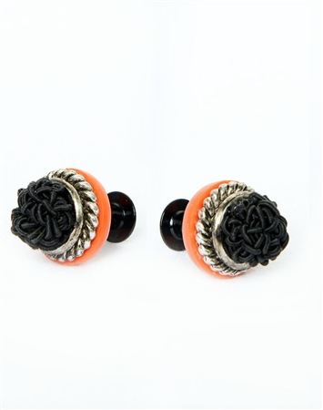 Janick Designer Hand-Crafted Cuff Links | Black Braid