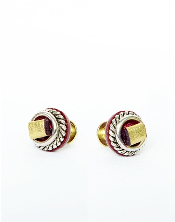 Janick Luxury Hand-Crafted Cuff Links | Gold Leather Fold