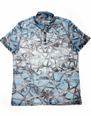 Luxury Polo Shirt - Blue Print Polo