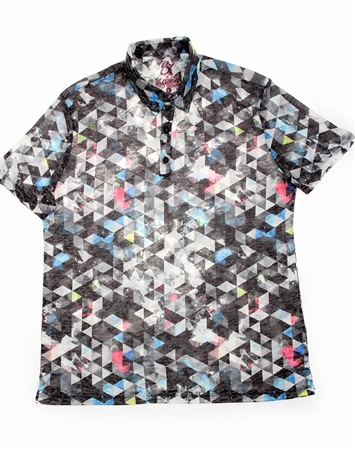Grey Prism Polo Shirt