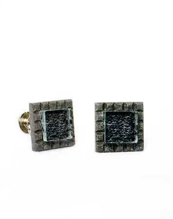 Janick Luxury Hand-Crafted Cuff Links | Grey Speckle Zero Three