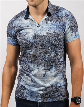 Artistic Luxury Navy Polo Shirt