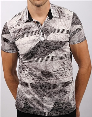 Black Diamond Print Shirt