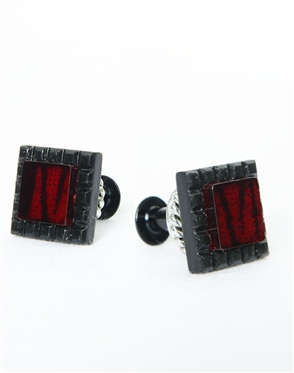 Janick Luxury Hand-Crafted Cuff Links | Black Zebra Zero Three