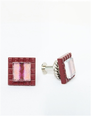 Janick Luxury Hand-Crafted Cuff Links | Maroon Stripe Zero Three