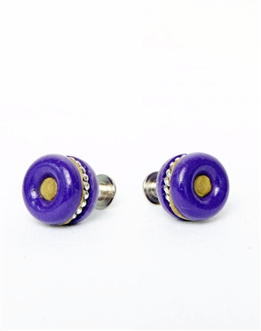 Janick Luxury Hand-Crafted Cuff Links | Purple Bagel