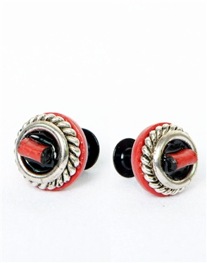Janick Luxury Hand-Crafted Cuff Links | Red Leather Fold