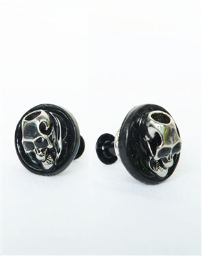 Janick Luxury Hand-Crafted Cuff Links | Black Skull Pond