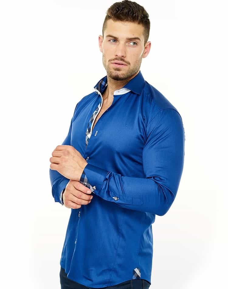 50-70%off closer at lower price with Maceoo Momentum Wall Street Satin Royal Blue