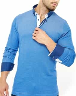 Maceoo Polo L Blue White SC 0016