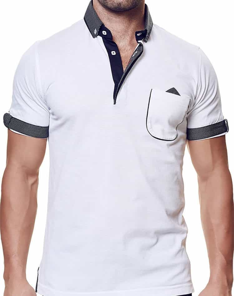 e12ee9130dd2 Fashion White Polo | Maceoo Unscripted | Polo White SSS