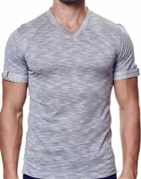 European Fashion V Neck Shirt Gray