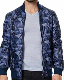 Men Reversible jacket: Reversible navy Bomber Jacket