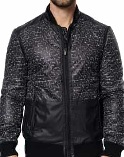 Men Jackets: Black Bomber Jacket