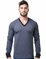 Trendy V-Neck Shirt - Grey