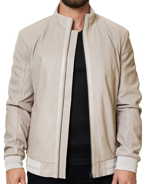 White Genuine Leather Jacket
