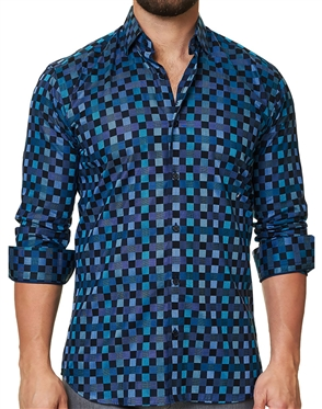 Luxury Turquoise Check Shirt