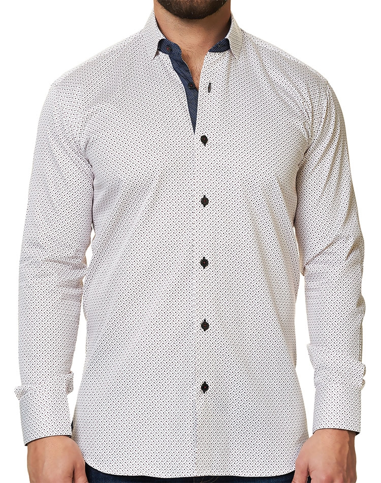 8168060a8 Luxury White Sport Shirt | Casual Shirt | Maceoo Unrivaled