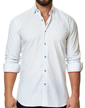 White Blue Collared Shirt