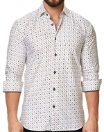 Luxury Button Down - White Hearts