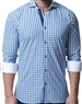 Comfortable and Stylish Blue Check Dress Shirt