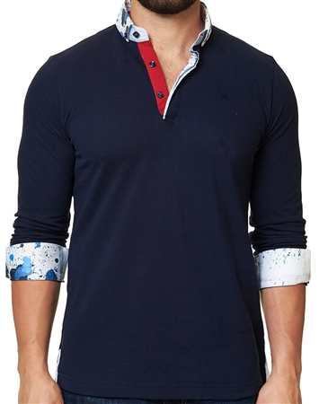 Maceoo Unrivaled  Polo L Solid Navy