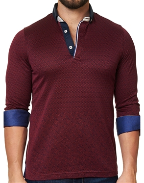 Maceoo Unrivaled  Polo L Triangle Burgundy