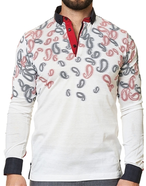 Maceoo Unrivaled  Polo L White Paisley