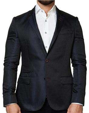 Navy Dot Sport Coat