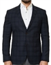 Navy Check Sport Coat