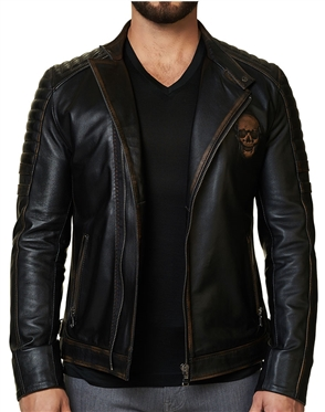 Black Brown Skull Jacket