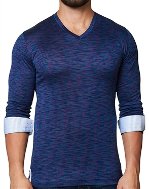 Maceoo Unrivaled | V Neck L Melange Purple