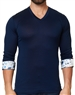 Maceoo Unrivaled | V Neck L Solid Navy