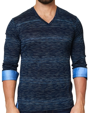 Maceoo Unrivaled | V Neck L Ing Navy