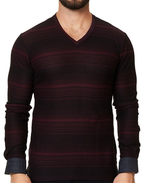 Maceoo Unrivaled | V Neck L Ing Black Red