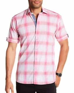 Pink Check Button Down