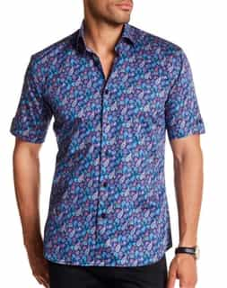 Paisley Short Sleeve Button Down