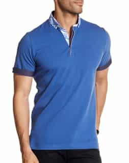 Blue and White Polo Shirt