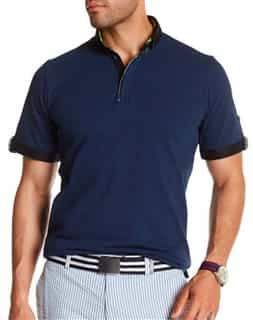 Navy and Black Polo Shirt