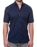 Navy Blue Stripe Fashion Shirt