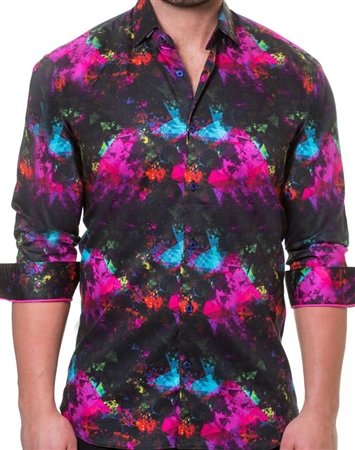 Black Fuchsia Dress Shirt