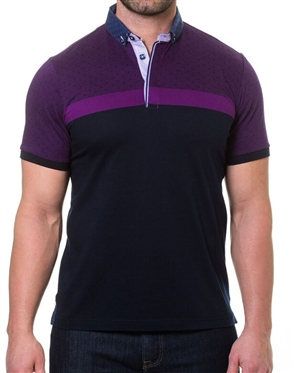 Purple and Black Polo Shirt