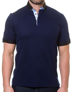 Navy Blue Fashion Polo