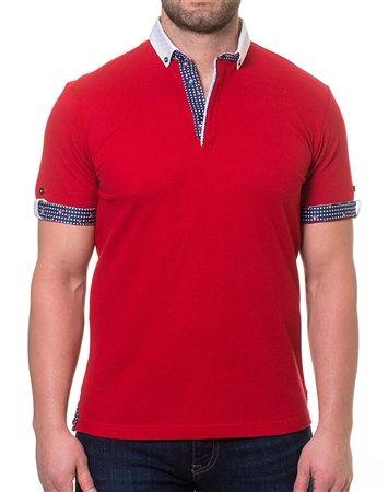 Fashionable Red Polo