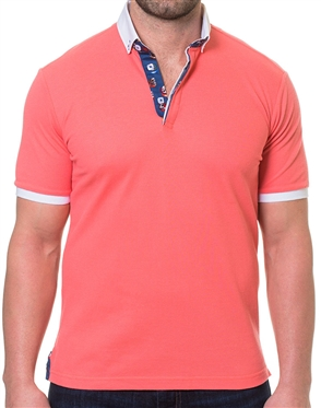 Sporty Polo Shirt in Coral
